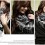 ผ้าพันคอชีมัค Shemagh สีขาวดำ thumbnail 3