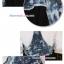 ชุดเอี๊ยมคลุมท้องผ้ายีนส์ มีกระเป๋าด้านหน้า : สีฟ้า-ดำ รหัส BM020 thumbnail 5