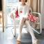 เสื้อคลุมท้องแขนยาว ลายอินเทรน : สีขาว รหัส SH132 thumbnail 7