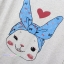 เสื้อคลุมท้องแขนสั้น ลายกระต่ายหน้ายิ้มโพกหัว : สีขาว รหัส SH217 thumbnail 5