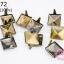 เป็กติดเสื้อ ทรงสี่เหลี่ยม สีทองเหลือง 11 มิล(10ชิ้น) thumbnail 1
