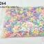 ลูกปัดพลาสติก สีพาลเทล ท๊อฟฟี่ คละสี 9X16 มิล(1กิโล/1,000กรัม) thumbnail 1