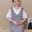 เดรสคลุมท้องแฟชั่นเกาหลี โทนสีขาวสลับดำ thumbnail 4