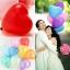 ลูกโป่งหัวใจเนื้อเมททัลลิก สีทอง ไซส์ 12 นิ้ว แพ็คละ 10 ใบ (Heart Shape Balloon-Metallic Gold Color) thumbnail 3