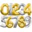 """ลูกโป่งฟอยล์รูปตัวเลข 6 สีเงิน ไซส์เล็ก 14 นิ้ว - Number 6 Shape Foil Balloon Size 14"""" Silver Color thumbnail 4"""