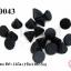 หมุดแหลม สีดำ 12มิล (1ขีด/100กรัม) thumbnail 1