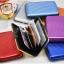 Metafun Wallet Set กระเป๋ากันน้ำ กระเป๋าตังค์ กระเป๋านามบัตรอลูมิเนียม แพค 3 ใบ คละสี thumbnail 3