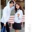 เสื้อกันหนาวคู่รักพร้อมส่ง แฟชั่นคู่รัก ชาย +หญิงเสื้อกันหนาวแบบสวม มีฮูด สีขาว แต่งลายใบไม้ thumbnail 6