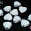 เพชรแต่ง หัวใจ สีขาว ไม่มีรู 14มิล(10ชิ้น) thumbnail 1