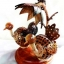 โคมไฟกะลามะพร้าว Birds and Flower thumbnail 1