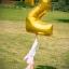 """ลูกโป่งฟอยล์รูปตัวเลข 2 สีทอง ไซส์จัมโบ้ 40 นิ้ว - Number 2 Shape Foil Balloon Size 40"""" Gold Color thumbnail 3"""