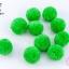 ปอมปอมไหมพรม กลม สีเขียวอ่อน 3.5ซม. (10 ลูก) thumbnail 1