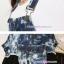 ชุดเอี๊ยมคลุมท้องผ้ายีนส์ มีกระเป๋าด้านหน้า : สีฟ้า-ดำ รหัส BM020 thumbnail 4