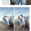 PRE ชุดเดินหาดคู่รัก เดรส แต่งอกระบาย สายคล้องคอหรือผูกโบว์เป็นเกาะอก จั๊มเอว +กางเกงขาสั้นชาย หลายโบฮีเมียนสีสวย thumbnail 7