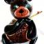 โคมไฟกะลามะพร้าวรูปหมี Coconut Shell Lamp Teddy Bear thumbnail 3