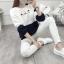 เสื้อแขนยาวแฟชั่นพร้อมส่ง เสื้อแขนยาวแต่งสีขาวสลับกรม แต่งสกรีน ฝูงแมว +พร้อมส่ง+ thumbnail 4