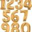 """ลูกโป่งฟอยล์รูปตัวเลข 2 สีทอง ไซส์จัมโบ้ 40 นิ้ว - Number 2 Shape Foil Balloon Size 40"""" Gold Color thumbnail 10"""