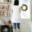 เสื้อคลุมท้องแขนกุด ลาย Like Balmain : สีขาว รหัส SH044 thumbnail 4