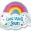 ลูกโป่งฟลอย์นำเข้า Get Well Rainbow / Item No. AG-11075 แบรนด์ Anagram ของแท้ thumbnail 1