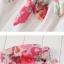 ชุดคลุมท้อง มีโบว์ผูก ลายดอกกุหลาบ : สีแดงอ่อน รหัส CK237 thumbnail 3