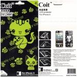 ฟิล์มกันรอย iPhone 5/5s ลายการ์ตูน หน้า+หลัง แมวเหมียว