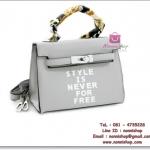 กระเป๋าแฟชั่นพร้อมส่ง รหัส HB-4018 มีผ้าพันหูกระเป๋า แบบสวยค่ะ