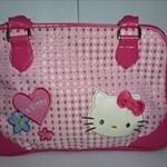 Hello Kitty  สีชมพู ลายตาราง