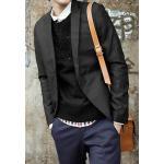 หลากสี!! เสื้อสูทปกปิด เกาหลี ทรงสลิมฟิต ผ้าสูทเนื้อดี สีดำ เทา size No.34 36 38 40
