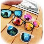กรอบแว่นตากันแดดแฟชั่น ปรอท ทรงเล็ก (ดำฟ้า ดำทอง ฟ้าใส ทองใส )