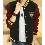 เสื้อแจ็คเก็ตเบสบอล โลโก้ แดงเข้มดำ ริบเหลืองNo.36 38 40 42 44