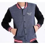 เสื้อแจ็คเก็ตเบสบอล Eagle สีดำ เทา No.36 38 40 42 44