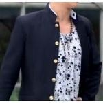 กระดุมพิเศษ!!เสื้อสูทตัวเล็ก คอจีน กระดุมเหล็กลายสลักเงิน สลักทอง แต่งคอขาว สไตล์ น.ร. ญี่ปุ่น Size No.34.5 36 38 40 42 ดำ