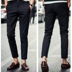 3สี กางเกงผู้ชายกึ่งลำลองขา4 ส่วน ทรงสลิม ใส่สบาย No.28-34 ดำ น้ำเงิน ขาว