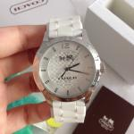 นาฬิกาข้อมือ Coach รุ่น MADDY STAINLESS STEEL 40MM RUBBER STRAP WATCH WHITE W6033