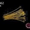 ตะปูเลข9หรืออายพิน สีทอง 38มิล (20 กรัม)