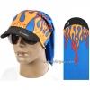 หมวกผ้าโพกหัว ผ้าบัฟ ผ้าBuff ลายลูกไฟ : สีน้ำเงิน TK005