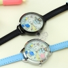 พร้อมส่ง: Casual 24-hour double MIni watch (Blue)