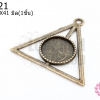 จี้ทองเหลือง สามเหลี่ยม Seeing Eye 39X41มิล(1ชิ้น)