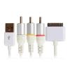 อะเดปเตอร์ตัวแปลงสัญญาณ Ipad 2 3, IPhone 4/4s เป็น AV ขาวเหลืองแดง ต่อจานดาวเทียม Set Top Box - Digital 1080P AV Adapter Cables Dock Converter to HDMI TV Kabel cabo for apple iPad 2 3 iPhone 4 4S White สำเนา