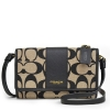 กระเป๋า COACH LEGACY SIGNATURE PRINT CROSSBODY PHONE CASE WALLET F62198