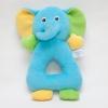 ของเล่นเสริมพัฒนาการ Rattle ตุ๊กตามือจับ หน้าช้าง สีฟ้า เขย่าแล้วมีเสียงกุ๊งกิ๊ง ใช้เป็น ของเล่นเด็ก ของเล่นเสริมทักษะ (ส่งฟรี)