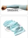 ถุงแขนกันแดด ปลอกแขนกัน UV สีฟ้า