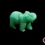 หินหยกเขียว ช้าง 24X50มิล (1ชิ้น)