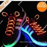 เชือกผูกรองเท้าไฟกระพริบ LED สีส้ม รหัส LD002