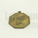 เหรียญจีน สิบสองนักษัตร ปีระกา 25X28มิล(1ชิ้น)