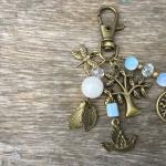 สอนทำพวงกุญแจ 30 แบบ l#8พวงกุญแจต้นไม้ประดับนกหินมูนสโตน