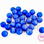ลูกปัดแก้ว ตาแมว สีน้ำเงินเข้ม 8มิล (1ขีด/171ชิ้น)