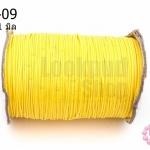 เชือกค๊อตต้อนเคลือบ สีเหลือง 1.0มิล (1ม้วน/100หลา)