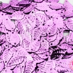 เลื่อมปัก ใบไม้ สีม่วง 9X16มิล(5กรัม)
