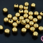 ลูกปัดโลหะ ทองเหลือง กลมเหลี่ยม 6มิล (1ขีด)